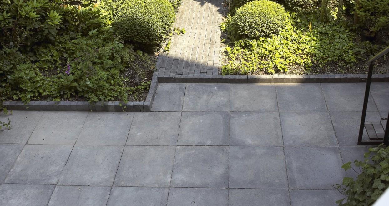 Oud hollandse betontegel antraciet benoton for Schellevis tegels aanbieding