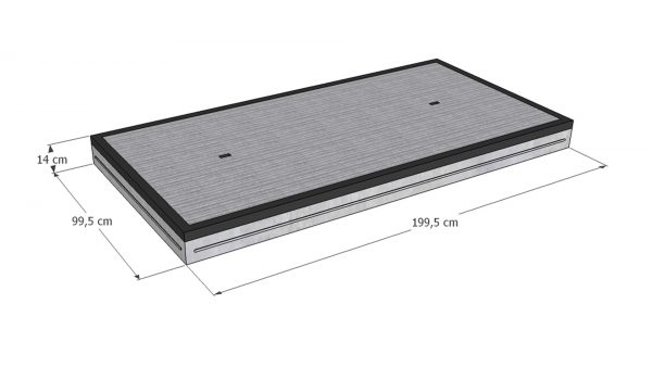 Betonplaat 20 ton 100x200x14cm