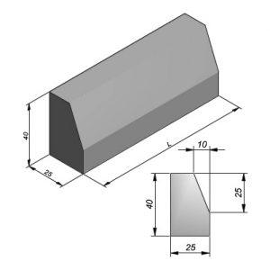 Geleidebanden profiel 15/25x40x100cm