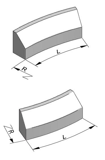 Geleideband 5-20x30cm bochtelementen