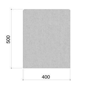 Prefab betonnen parkbanden rechthoekig