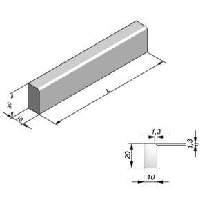 Projectbanden profiel 10x20cm