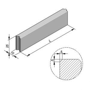 Projectbanden profiel 10x25cm