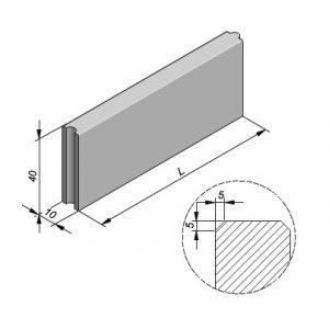 Projectbanden profiel 10x40cm