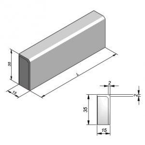 Projectbanden profiel 15x35cm