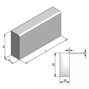 Projectbanden profiel 20x50cm