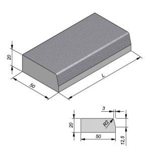 Projectbanden profiel 47/50x20cm