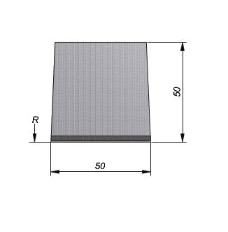 Projectband 47-50x20x50cm bochtelement middenstuk diepte 50cm
