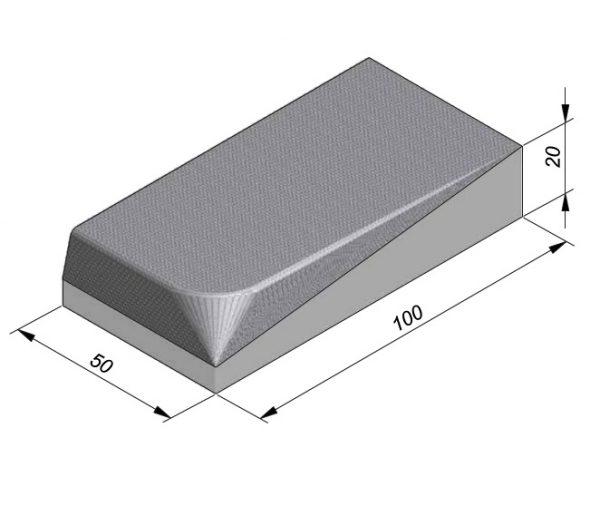 Projectband 47-50x20x50cm inritband links diepte 100cm