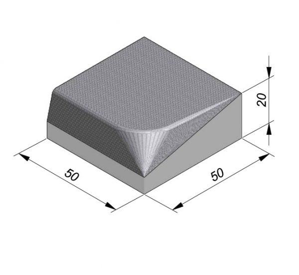 Projectband 47-50x20x50cm inritband links diepte 50cm