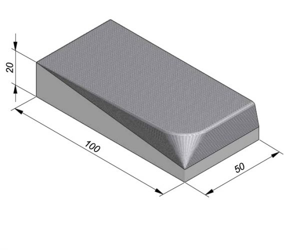Projectband 47-50x20x50cm inritband rechts diepte 100cm