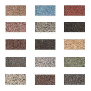Uitgewassen betontegels