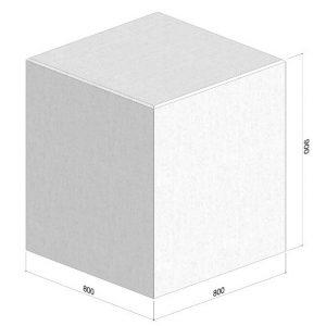 Vierkante betonnen zitelementen